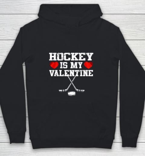 Hockey Is My Valentine Youth Hoodie