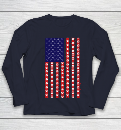 Rugby Dog Lover American Flag Youth Long Sleeve 2