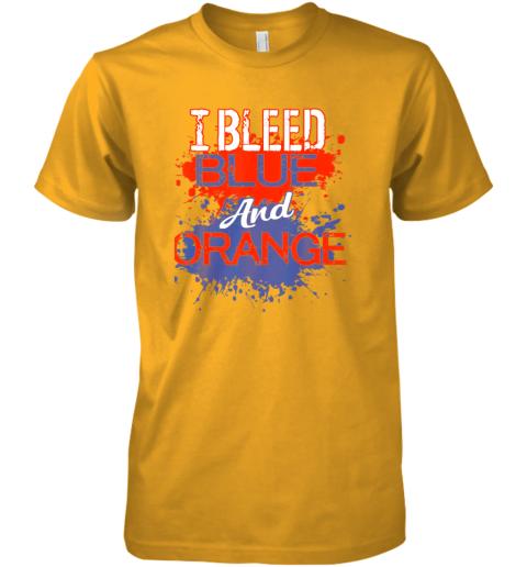 xkkv i bleed blue and orange fan shirt football soccer baseball premium guys tee 5 front gold