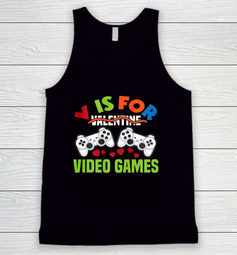 Funny Video Games Lover Valentine Day Tank Top
