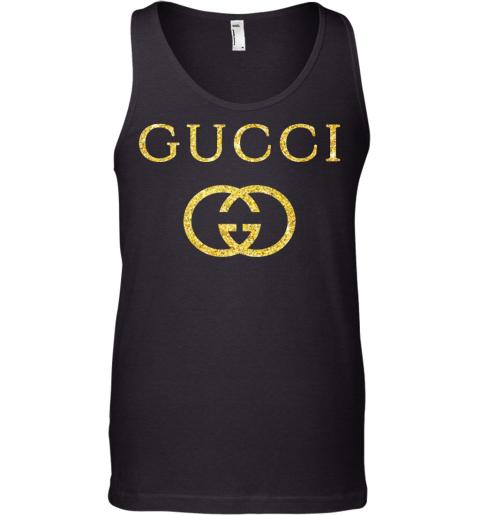 Gucci Logo Vintage Inspired Glitter Mens Tank Top