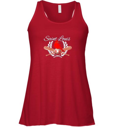 p8kt st louis baseball design cardinal sports flowy tank 32 front red