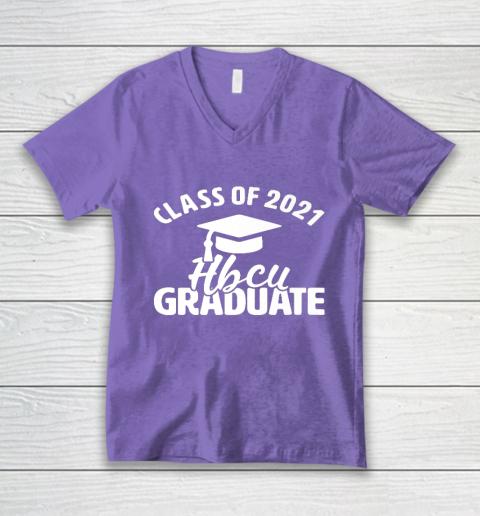 HBCU Alumni Apparel Class Of 2021 HBCU Grad V-Neck T-Shirt 8