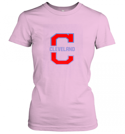 wexi cleveland hometown indian tribe vintage for baseball fans ladies t shirt 20 front light pink
