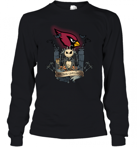 Arizona Cardinals Jack Skellington This Is Halloween NFL Youth Long Sleeve