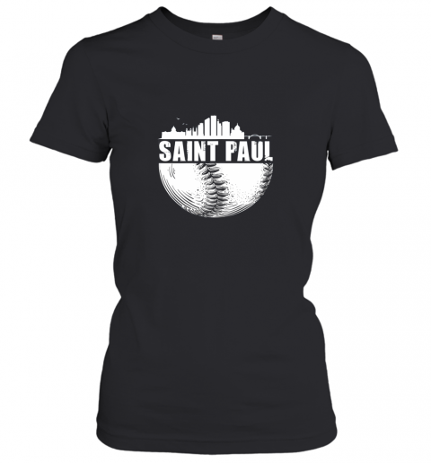Saint Paul Skyline City Baseball Shirt Souvenir Skyline Women's T-Shirt
