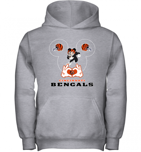 qyyq i love the bengals mickey mouse cincinnati bengals youth hoodie 43 front sport grey