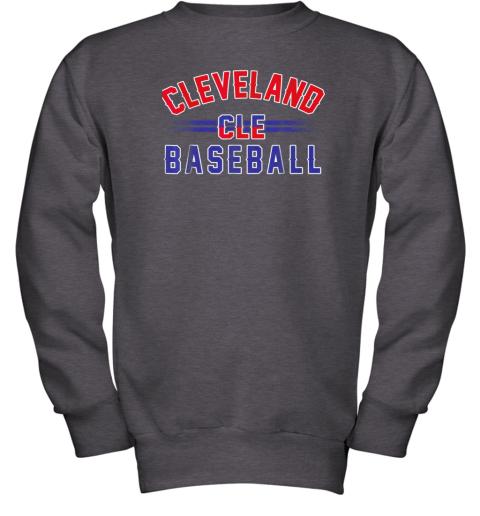 gitw cleveland cle baseball youth sweatshirt 47 front dark heather