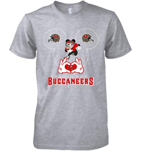 k8gz i love the buccaneers mickey mouse tampa bay buccaneers s premium guys tee 5 front heather grey