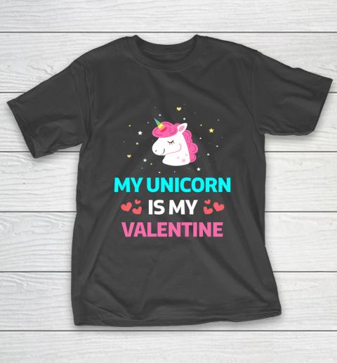 Funny Valentines Day Shirt Unicorn Is My Valentine T-Shirt