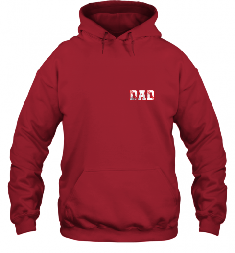 xpv2 mens baseball inspired dad fathers day distressed hoodie 23 front red