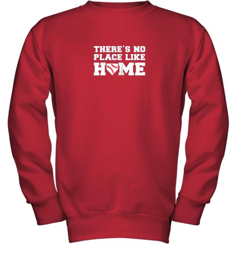 u32n there39 s no place like home baseball shirt kids baseball tee youth sweatshirt 47 front red
