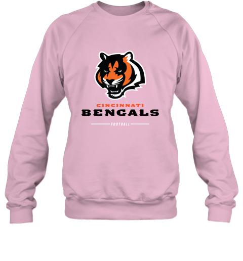 pkng cincinnati cengals nfl pro line black team lockup sweatshirt 35 front light pink