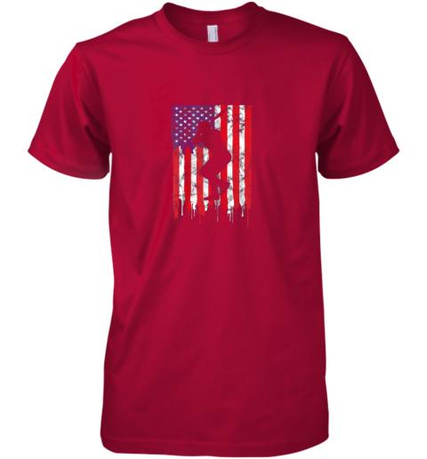 xch3 vintage patriotic american flag baseball shirt usa premium guys tee 5 front red