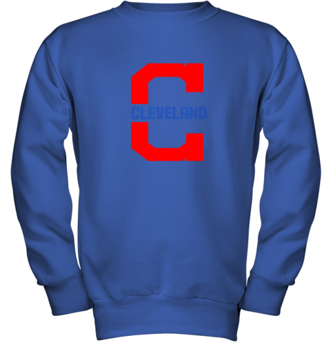 rknk cleveland hometown indian tribe vintage for mlb fans youth sweatshirt 47 front royal