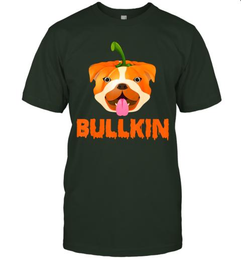 Bulldogkin Funny Bulldog Pumpkin Halloween Bulldog Lover T-Shirt