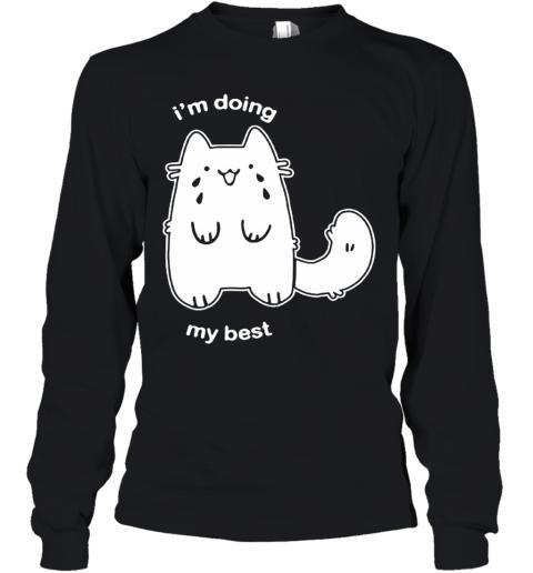 Fluffy Plusheen Cat I'm Doing My Best Youth Long Sleeve