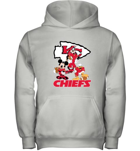 Mickey Donald Goofy The Three Kansas City Chiefs Football Youth Hoodie
