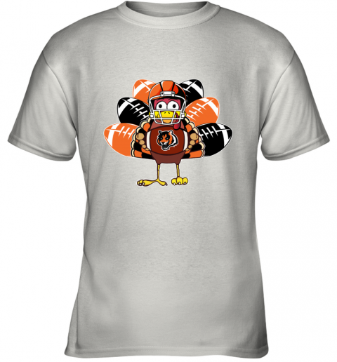 Cincinnati Bengals  Thanksgiving Turkey Football NFL Youth T-Shirt