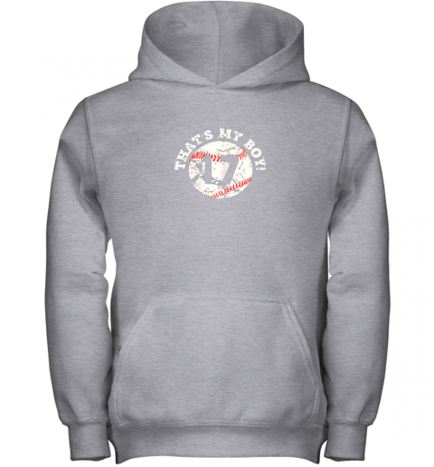 mj8r that39 s my boy 17 baseball player mom or dad gift youth hoodie 43 front sport grey