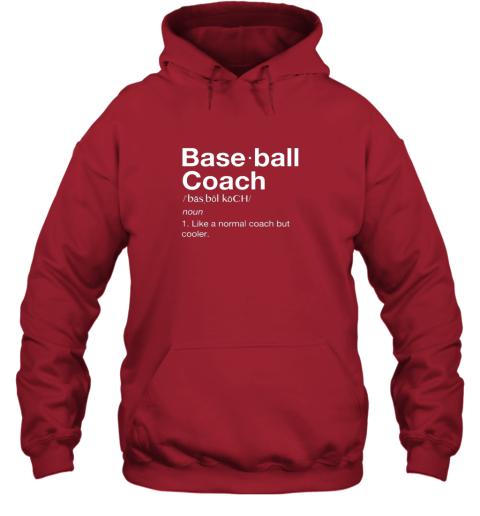 m9mb coach baseball shirt team coaching hoodie 23 front red