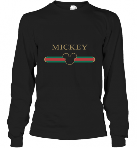 Mickey Mouse Gucci Graphic Long Sleeve T-Shirt