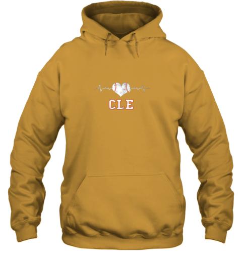tkbz cleveland baseball shirt cleveland ohio heart beat cle hoodie 23 front gold
