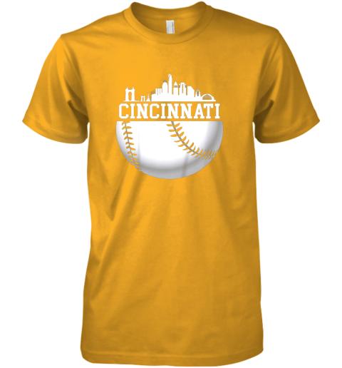 ve5y vintage downtown cincinnati shirt baseball retro ohio state premium guys tee 5 front gold