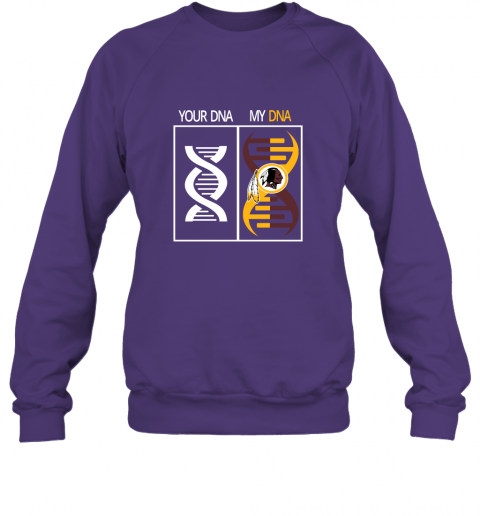 nocf my dna is the washington redskins football nfl sweatshirt 35 front purple