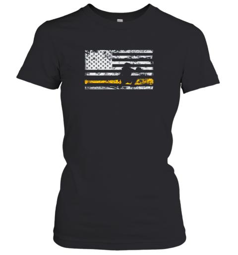 Softball Catcher Shirts Baseball Catcher American Flag Women's T-Shirt