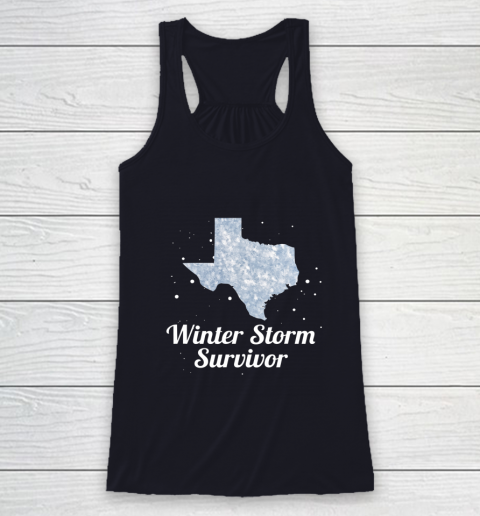 I Survived Winter Storm Texas 202 Racerback Tank 7