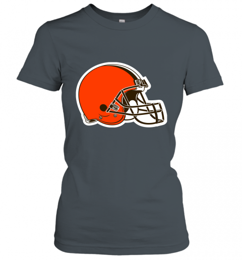 8oqz cleveland browns nfl pro line by fanatics branded brown victory ladies t shirt 20 front dark heather
