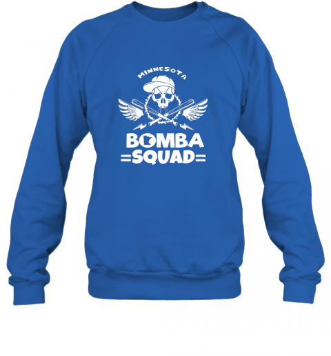 ryqb bomba squad twins shirt minnesota baseball men bomba squad sweatshirt 35 front royal