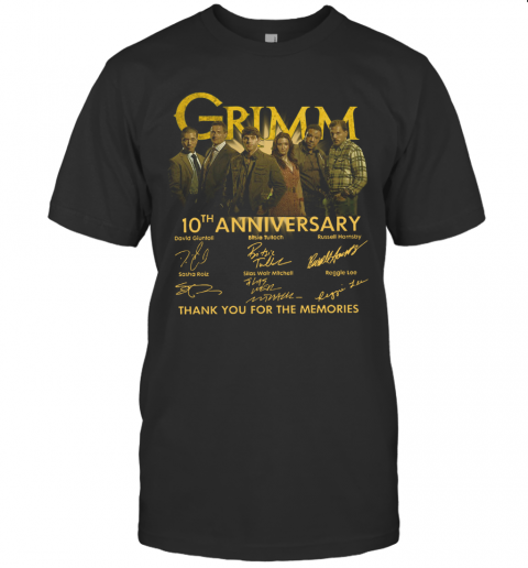 Grimm 10Th Anniversary Thank You For The Memories Signature T-Shirt