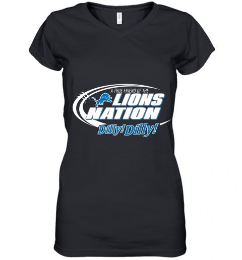 A True Friend Of The Lions Nation Women's V-Neck T-Shirt