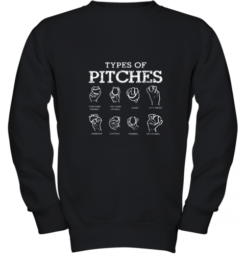 Types Of Pitches Softball Baseball Team Sport Youth Sweatshirt
