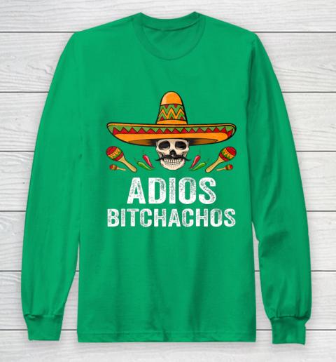 Adios Bitchachos Shirt Funny Mexican Skull Cinco De Mayo Long Sleeve T-Shirt 4