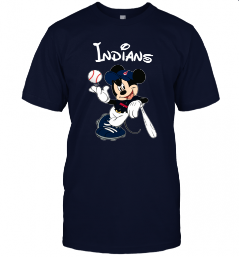 j09x baseball mickey team cleveland indians jersey t shirt 60 front navy