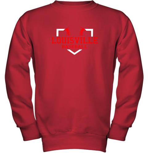 lxwm vintage louisville baseball kentucky gift youth sweatshirt 47 front red