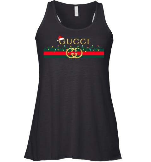 Gucci Logo_Vintage Christmas Light Gift Womens Racerback Tank Top