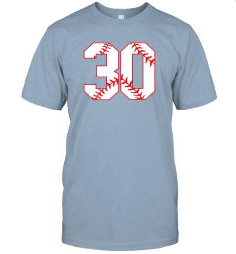 wezu thirtieth birthday party 30th baseball shirt born 1989 jersey t shirt 60 front light blue