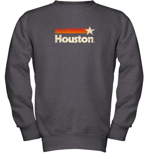 t0lx houston texas shirt houston strong shirt vintage stripes youth sweatshirt 47 front dark heather