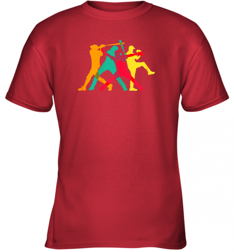uth4 vintage baseball shirt gifts youth t shirt 26 front red