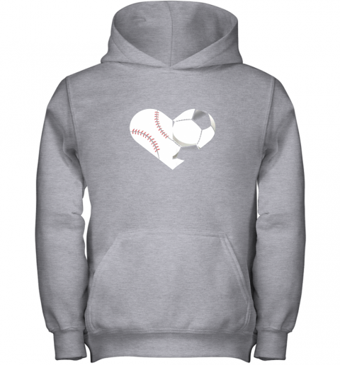 4to9 soccer baseball heart sports tee baseball soccer youth hoodie 43 front sport grey