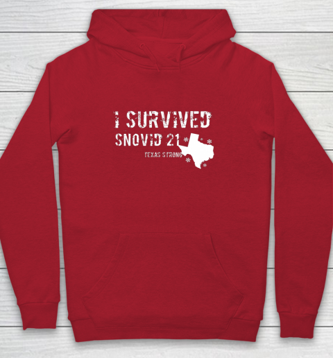 I Survived Snovid 21 Texas Shirt Youth Hoodie 15
