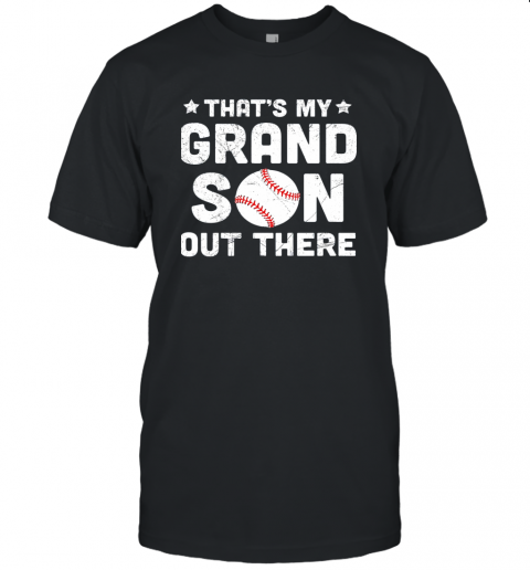Grandma That's My Grandson Out There Baseball Unisex Jersey Tee