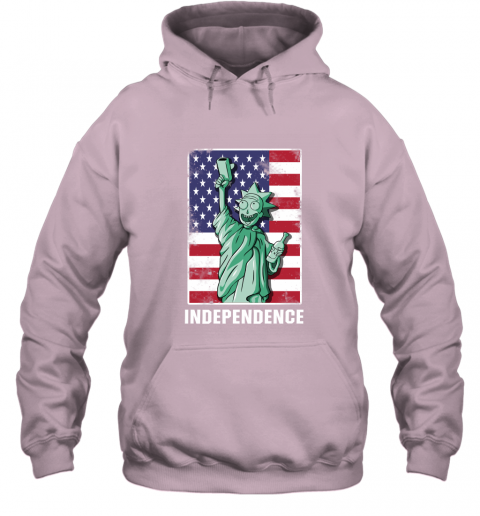 nmun rick and morty statue of liberty independence day 4th of july shirts hoodie 23 front light pink