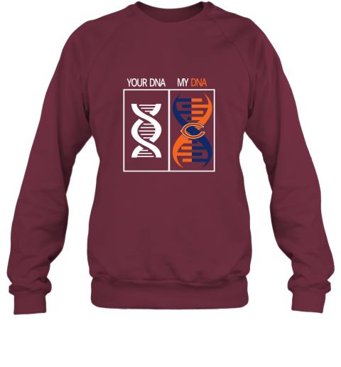 j4zg my dna is the chicago bears football nfl sweatshirt 35 front maroon
