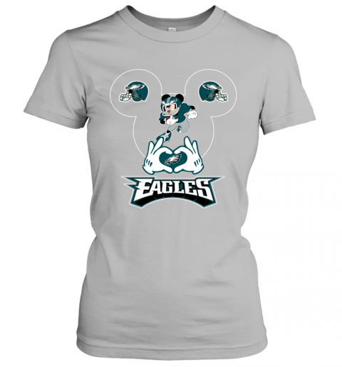 jhmm i love the eagles mickey mouse philadelphia eagles ladies t shirt 20 front sport grey