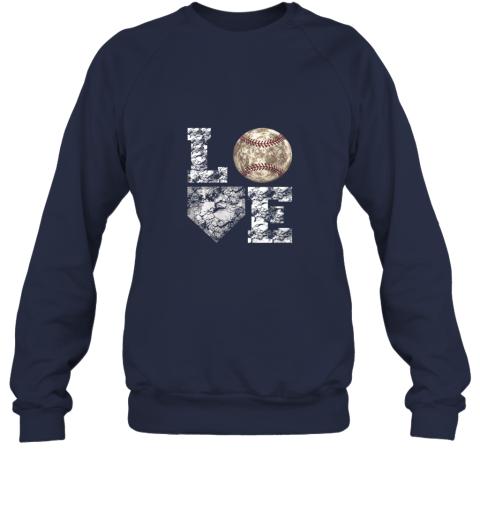 mmz1 baseball distressed ball cute dad mom love gift sweatshirt 35 front navy